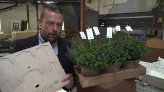 Video: Orgnisk nedbrydelige blomsterpotter fra Jiffy får ny bæredygtig emballage