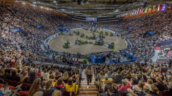 Gothenburg Horse Show är ett av Göteborgs viktigaste årligen återkommande världsevenemang. Tävlingarna har genomförts i Scandinavium sedan 1977. Foto: Johan Lilja.