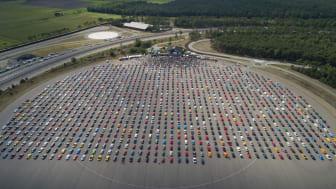 Her gjennomføres verdens største Mustang-parade