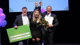 Startup-bolaget The Fit vinnare av Top Tech 2018. Foto: Victor Ackerheim