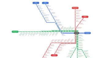 Kvadratmeterpris per tunnelbanestation