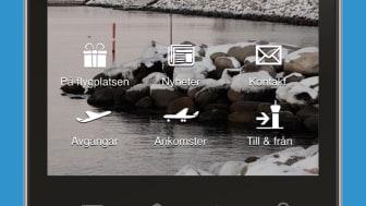 Gate och boardingtid i Swedavias flygplatsapp