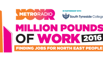 Supporting Metro Radio's Million Pounds of Work Campaign