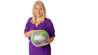 Hållbarhetsexperten Jessica Cederberg Wodmar föreläser om hållbar konsumtion.