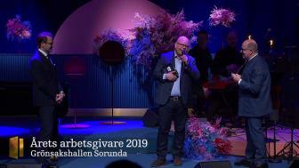 Film från prisutdelning Årets Arbetsgivare 2019 på Visa Vägen-galan