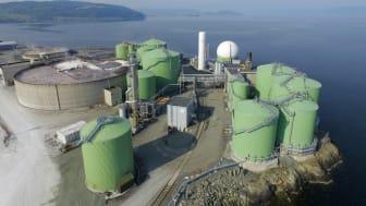 Exempel på indunstningsanläggning som levereras för rening av processvatten med en kapacitet upp till 200 m3/h och en energiförbrukning från 8kWh/m3.