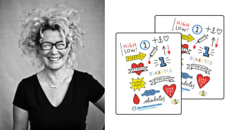 Barndiabetesfondens gnuggistatueringar har tagits fram av Karin Mannerstål.