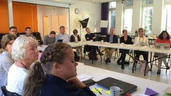 Styr- och projektgrupp samlade för dagens analysseminarium.