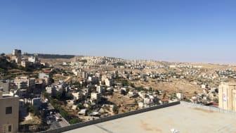 Bethlehem with settlements (Photo credit: Mark Griffiths)