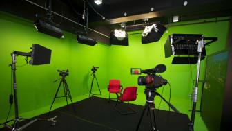 Green screen TV studio