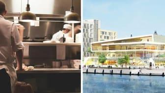 Miljövänliga storkök är framtiden för Clarion Hotel Sea U. Bild tv: Pixabay, Bild th: MOD Arkitekter, en rendering på Clarion Hotel Sea U, Helsingborg.