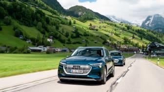 Langturstest i Audi e-tron: 10 lande på 24 timer