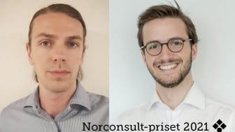 Norconsult-priset 2021 tilldelas Filip Faust och Per Nelson, för bästa artikel i tidskriften Vatten
