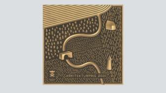 3d-visualisering av plaketten till arkitekturpriset, formgivare Jens Fager.