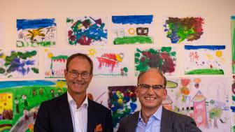 Torgeir Silseth (Administrerende Direktør i Nordic Choice Hotels) & Eirik Thrygg (Administrerende Direktør i Höegh Eiendom) avslørte navnet til det nye Quality Hotel HasleLinje som åpner i april 2021.