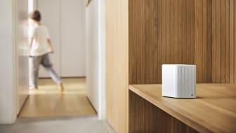 Telenor lanserer i dag en ny WiFi-forsterker som er designet av Snøhetta. (Foto: Telenor)