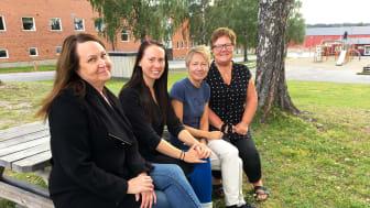 Therese Berg, Sandra Malm, Pernilla Hansson, Anette Lidén