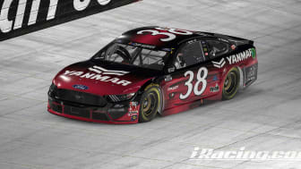 YANMAR America is the primary sponsor for the No. 38 Ford Mustang team and John Hunter Nemechek this weekend at the eNASCAR iRacing Pro Invitational Series.
