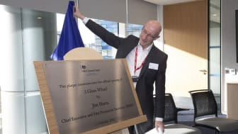 Jim Harra, Chief Executive and First Permanent Secretary of HMRC, declares 3 Glass Wharf officially open