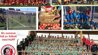 Collage från HuFF sommaraktiviteter 2016 med hundratals berörda barn