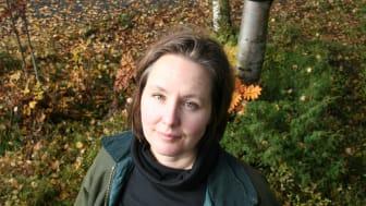 Kajsa G. Åberg, doktorand vid Institutionen för geografi och ekonomisk historia vid Umeå universitet. Foto: Owe Grandics.
