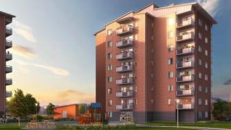 Säljstart för 43 bostadsrätter i Brf Riddaren Berga Park, Linköping