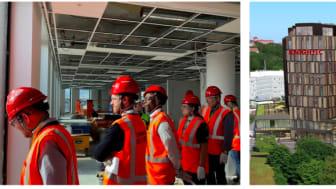 Et 30-tal konsulter deltog vid besöket på Knightecs nästa Stockholmskontor i Solna United