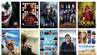 10 filmer som presenteras i Swedish Films nyhetsblad. En blandning av nya releaser och succéer från 2010-talet.