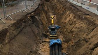Förorenad jord stoppar grävarbete