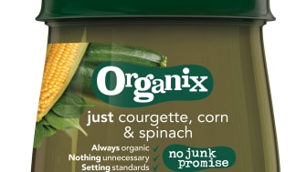 Organix just courgette, corn & spinach