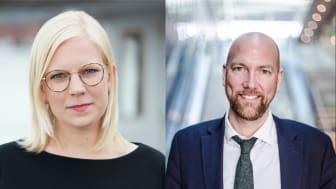 Karin Ernlund (C) och Gustav Hemming (C)