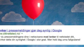 Slik bruker du lenker i pressemeldingen - uten å bli straffet av Google