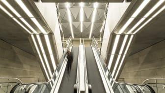 KONE rulletrapper i Københavns Cityringen T-banelinje