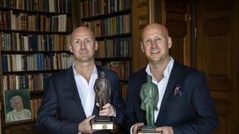 Richard och Christoffer Bergfors - Årets företagare 2018 (foto: Jack Mikrut/Dagens Industri)