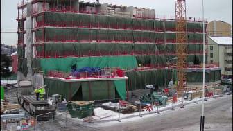 Byggingen av Årvoll omsorgssenter i time lapse