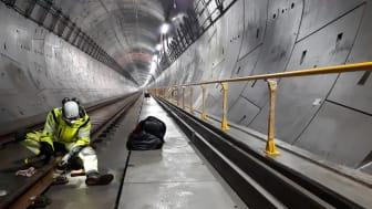 Omfattende inspeksjon i tunnelen på Follobanen