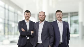 The Blue World Technologies founders team. From Left: Mads Bang - CTO, Anders Korsgaard - CEO, Mads Friis Jensen - CCO