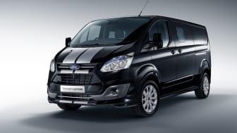 A dinamikus, új Transit Custom áruszállítók vonzóbbá varázsolják a vállalkozásokat: a Ford bemutatja az exkluzív Black Edition és Sport kivitelű változatokat