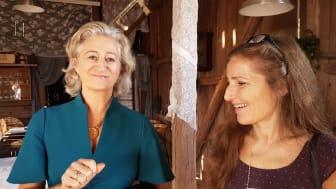 Gaya Pienitzka, Lifecap, (till höger) tillsammans med terapeutkollega Madeleine Swartz (till vänster)