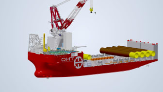 Kongsberg Maritime is to supply a PGGS for the Ulstein-designed OHT Alfa Lift offshore wind foundation installation vessel
