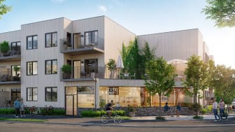 Så här tänker sig GBJ Bostadsutveckling utformningen på kvarteret Munin