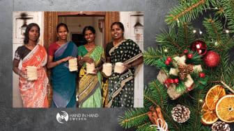 Finja önskar god frisk jul - fortsätter samarbete med Hand in Hand