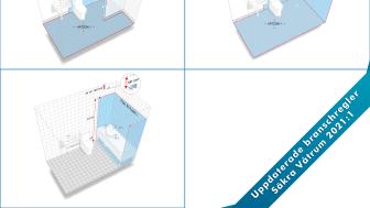 Reglerna för våtzon 1 och 2 blir tydligare i de uppdaterade branschreglerna Säkra Våtrum 2021:1