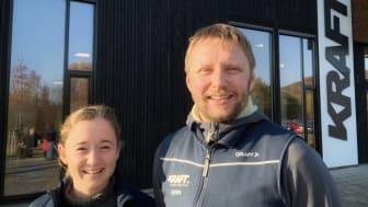 Bjørn Brækkan, avdelingsleder studentidrett/Kraft sportssenter og Alexandra King, prosjektleder Kraftstart