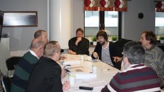 Första mötet med vinnare, konstruktörer och utformare.