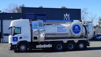 Malmberg Miljöhanterings nya recyclingbil