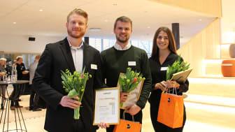 Andreas Möller, Jacob Harrysson och Johanna Strandman