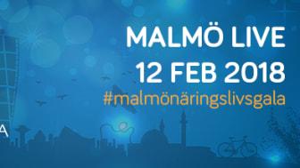 Pressinbjudan till finalistsläpp den 14 december för Malmö Näringslivsgala