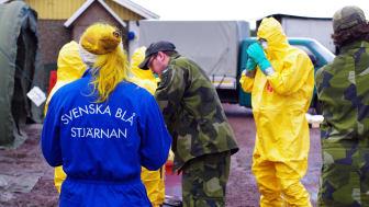 Myndigheter och frivilligorganisationer samverkar för att bekämpa smittan. Foto: Eric Arenius