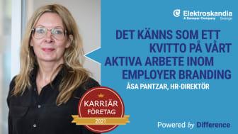 Elektroskandia utsett till ett av Sveriges Karriärföretag 2021
